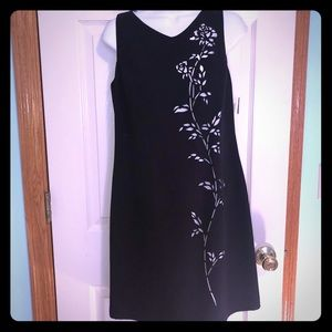 YL by Yair 10P Navy Dress with Floral Cut Outs-NWT